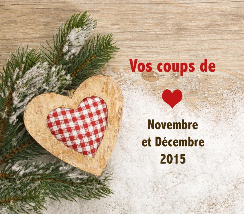 Vos produits préférés des mois de novembre et décembre 2015 !
