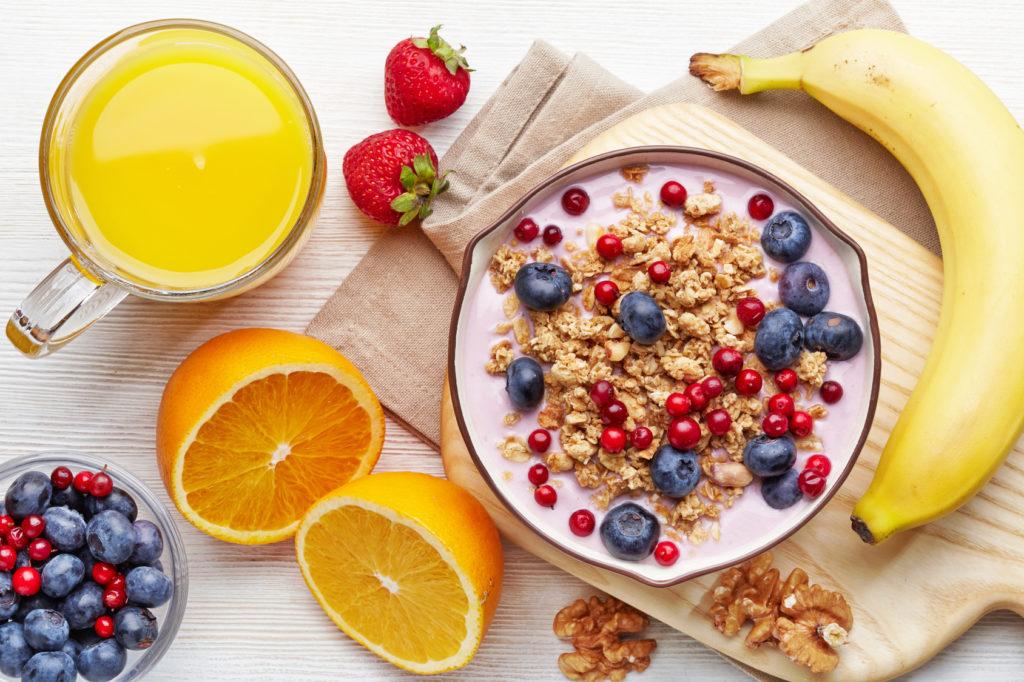 Petit déjeuner d'hiver : sain et bio