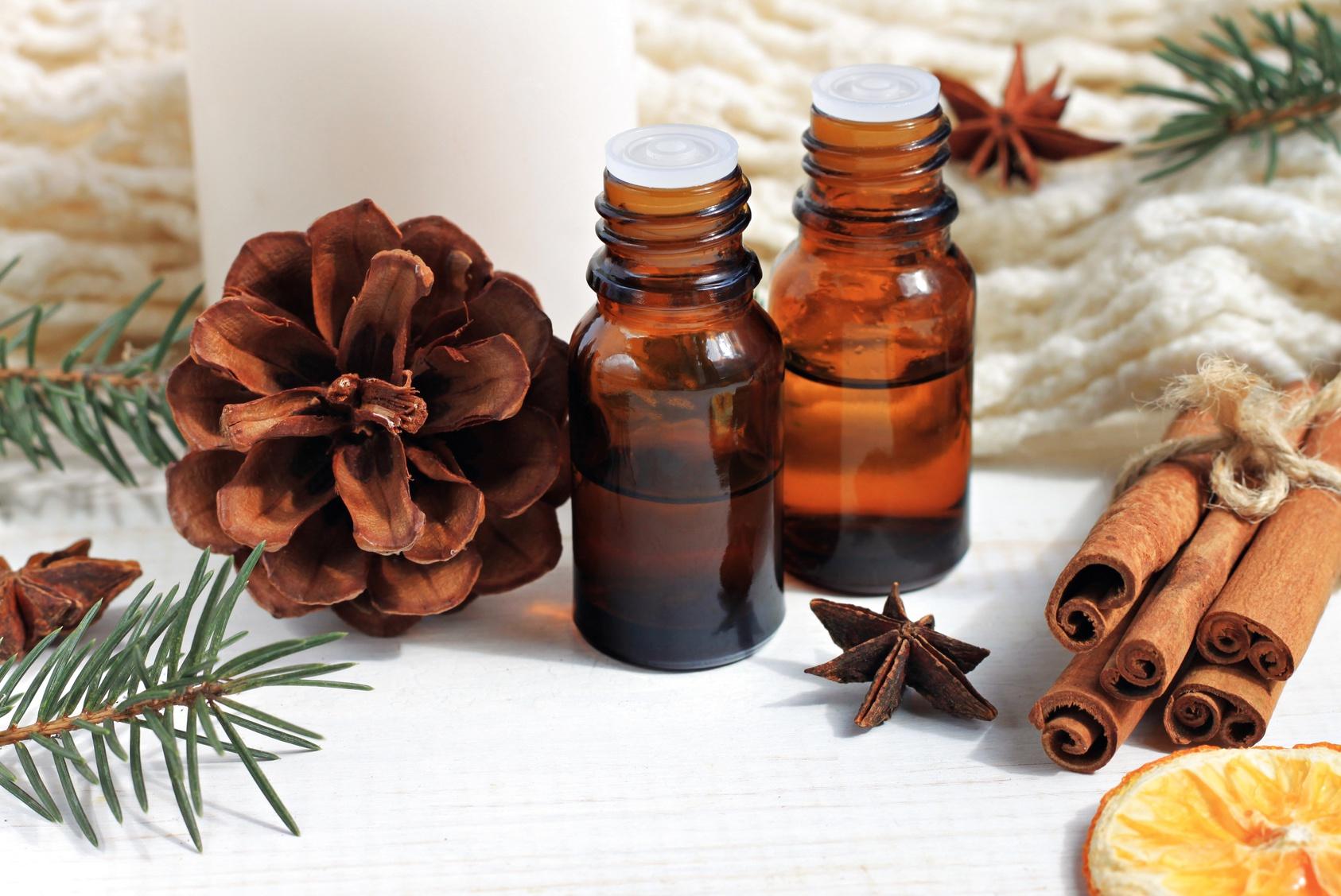 Les huiles essentielles de l'hiver
