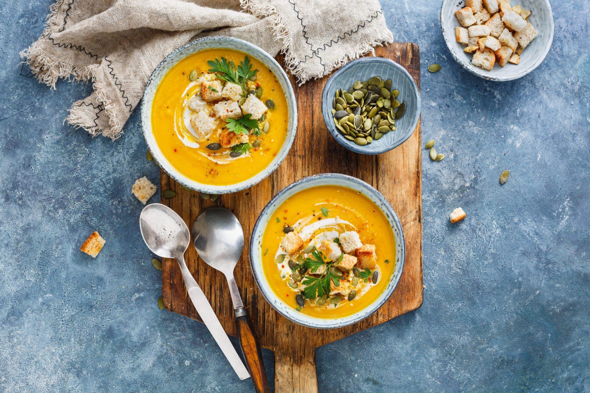 Les soupes et veloutés, les plaisirs d'hiver